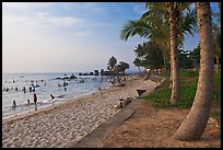 Long Beach and  Cau Castle, Duong Dong. Phu Quoc Island, Vietnam ( color)