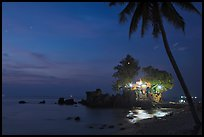 Cau Castle at night. Phu Quoc Island, Vietnam (color)