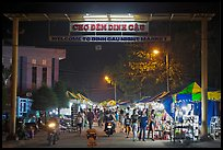 Dinh Cau Night Market entrance. Phu Quoc Island, Vietnam (color)