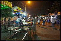 Restaurant, Dinh Cau Night Market. Phu Quoc Island, Vietnam (color)
