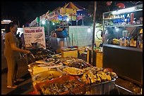 Food stall, Dinh Cau Night Market. Phu Quoc Island, Vietnam ( color)