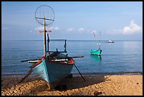 Fishing skiffs, Long Beach. Phu Quoc Island, Vietnam ( color)