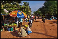 Street market in village along Long Beach. Phu Quoc Island, Vietnam ( color)