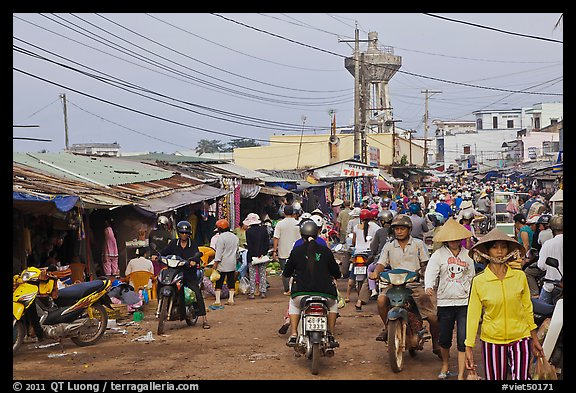 Busy public market, Duong Dong. Phu Quoc Island, Vietnam (color)