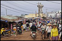 Busy public market, Duong Dong. Phu Quoc Island, Vietnam ( color)