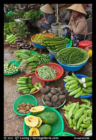 Women selling fruit and vegetables at market, Duong Dong. Phu Quoc Island, Vietnam