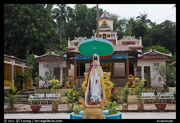 Buddhist temple, Duong Dong. Phu Quoc Island, Vietnam (color)