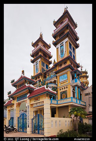 Cao Dai temple, Duong Dong. Phu Quoc Island, Vietnam (color)