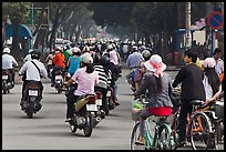 Street traffic. Ho Chi Minh City, Vietnam ( color)