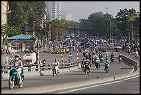 Morning traffic along Saigon river. Ho Chi Minh City, Vietnam (color)