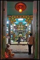Mariamman Hindu Temple from entrance gate. Ho Chi Minh City, Vietnam (color)