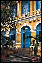 Detail of colonial architecture. Ho Chi Minh City, Vietnam (color)