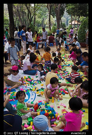 Playgound, Cong Vien Van Hoa Park. Ho Chi Minh City, Vietnam (color)