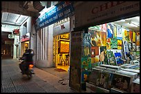 Art galleries at night. Ho Chi Minh City, Vietnam ( color)
