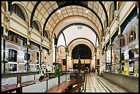Inner decor of Saigon Central Post office. Ho Chi Minh City, Vietnam (color)
