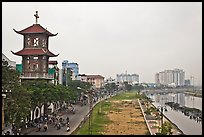 Church on the banks of the Saigon Arroyau. Cholon, Ho Chi Minh City, Vietnam ( color)
