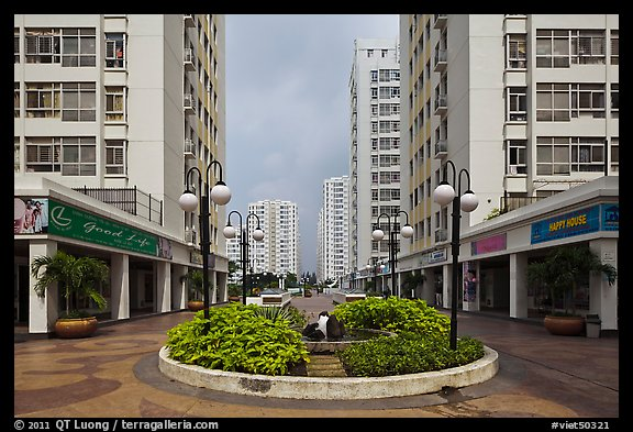 Residential towers complex, Phu My Hung, district 7. Ho Chi Minh City, Vietnam (color)