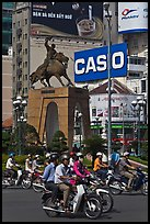 Le Loi statue on traffic circle. Ho Chi Minh City, Vietnam ( color)
