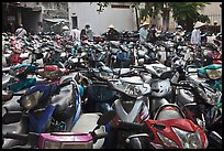 Motorcycle parking area. Ho Chi Minh City, Vietnam ( color)