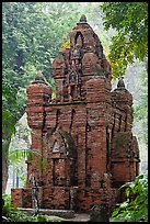 Small-scale model of Cham tower, Cong Vien Van Hoa Park. Ho Chi Minh City, Vietnam (color)