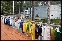 Sports jerseys being dried, Cong Vien Van Hoa Park. Ho Chi Minh City, Vietnam ( color)