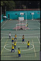 Girls Volleyball match, Cong Vien Van Hoa Park. Ho Chi Minh City, Vietnam (color)
