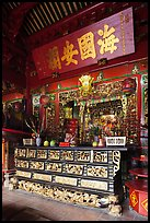 Altar, Ha Chuong Hoi Quan Pagoda. Cholon, District 5, Ho Chi Minh City, Vietnam