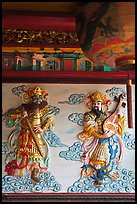 Ceramic bas-relief, Quan Am Pagoda. Cholon, District 5, Ho Chi Minh City, Vietnam (color)