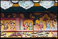 Ceramic scenes from traditional Chinese stories, Quan Am Pagoda. Cholon, District 5, Ho Chi Minh City, Vietnam ( color)