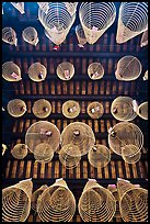 Incense coils seen from below, Thien Hau Pagoda, district 5. Cholon, District 5, Ho Chi Minh City, Vietnam ( color)