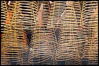 Burning incense coils, Thien Hau Pagoda. Cholon, District 5, Ho Chi Minh City, Vietnam (color)