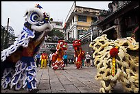 Dragon dance, Thien Hau Pagoda. Cholon, District 5, Ho Chi Minh City, Vietnam ( color)