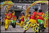 Traditional dragon dance, Thien Hau Pagoda, district 5. Cholon, District 5, Ho Chi Minh City, Vietnam ( color)