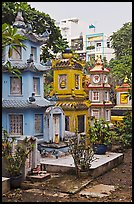 Tombs, Giac Lam Pagoda, Tan Binh District. Ho Chi Minh City, Vietnam (color)