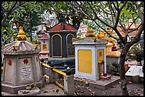 Buddhist graves, Giac Lam Pagoda. Ho Chi Minh City, Vietnam ( color)