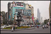Traffic circle. Ho Chi Minh City, Vietnam ( color)