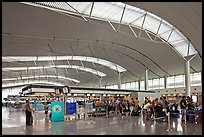 Main concourse, Tan Son Nhat International Airport. Ho Chi Minh City, Vietnam (color)