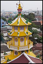 Back tower, Saigon Caodai temple. Ho Chi Minh City, Vietnam (color)