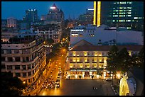 Rooftop view of central Saigon. Ho Chi Minh City, Vietnam (color)