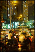 Traffic outside of shopping mall. Ho Chi Minh City, Vietnam ( color)