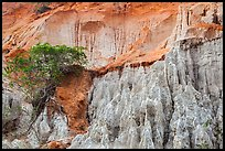 Erosion landscape of sand and sandstone. Mui Ne, Vietnam (color)