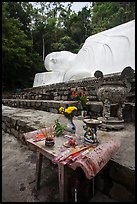 Alter below largest Vietnam Buddha statue. Ta Cu Mountain, Vietnam (color)