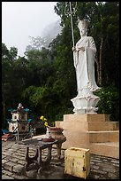 Buddhist statue. Ta Cu Mountain, Vietnam (color)