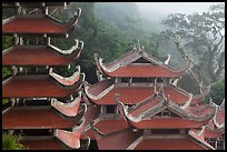 Roofs of temple and pagoda. Ta Cu Mountain, Vietnam (color)
