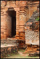 Entrance to sanctuary in Cham Tower. Mui Ne, Vietnam (color)