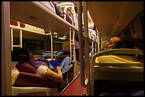 Inside sleeper bus. Vietnam ( color)