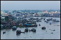 Cai Rang market before sunrise. Can Tho, Vietnam ( color)