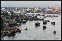 Cai Rang river market. Can Tho, Vietnam (color)