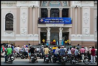 Tradionnal music performance outside municipal opera house. Ho Chi Minh City, Vietnam ( color)