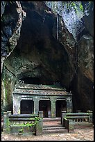 Santuary in Buddhist grotto, Thuy Son. Da Nang, Vietnam ( color)